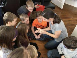 Atelier auprès des jeunes